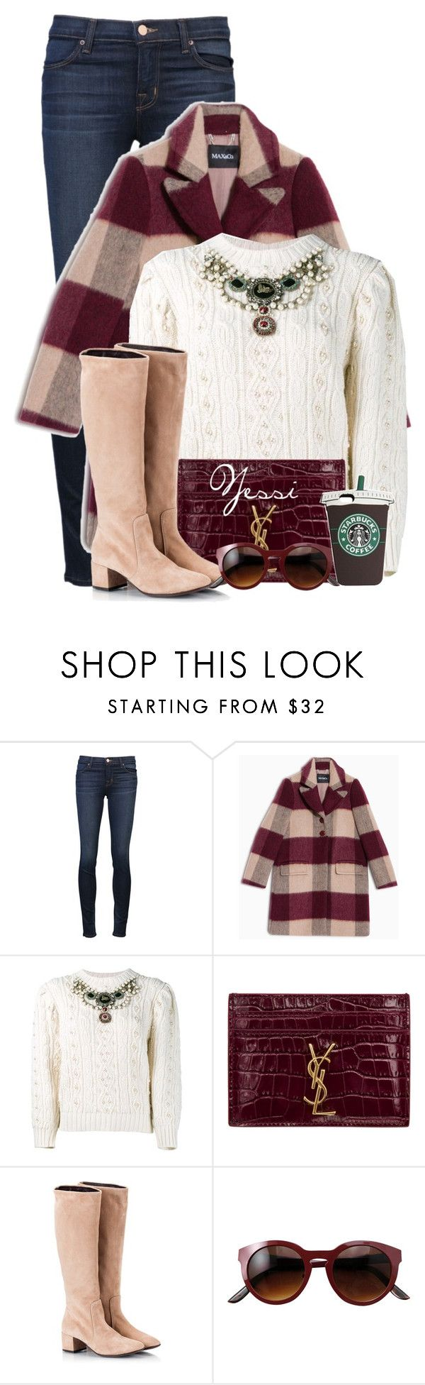 """~  Embellished Sweater  ~"" by pretty-fashion-designs ❤ liked on Polyvore featuring J Brand, Max&Co., Gucci, Yves Saint Laurent and Attilio Giusti Leombruni"