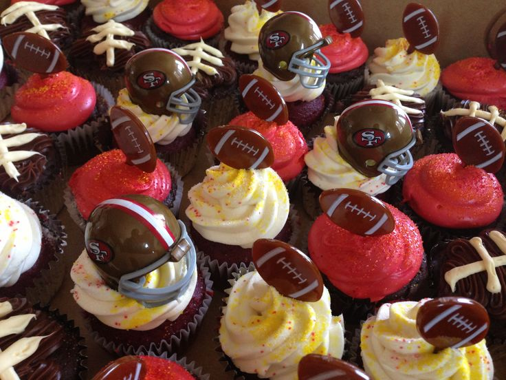 tailgating ideas tailgate parties 49er cupcakes lil gabe idea san baby ...