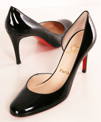 Black Patent Louboutin pumps- Classic and elegant