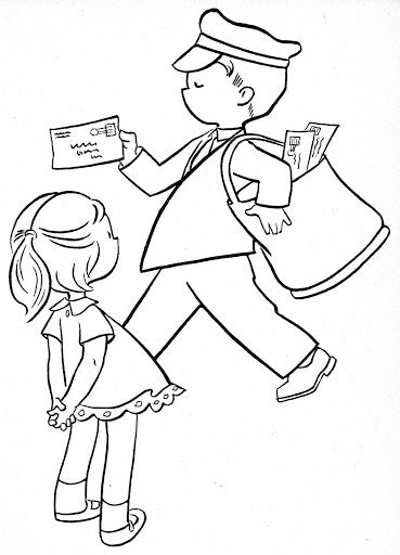 coloring pages occupations | Occupation Coloring Pages Sketch Coloring Page