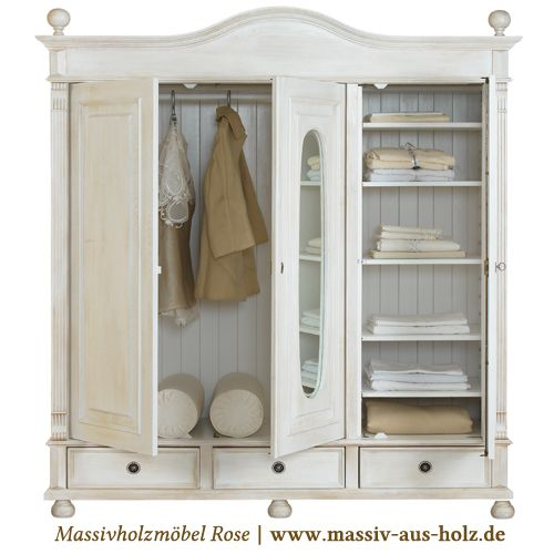 The 25+ Best Ideas About Kleiderschrank Landhausstil On Pinterest ... Schlafzimmer Landhausstil Massiv