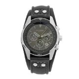 Fossil Men's CH2586 Sports Chronograph Leather Cuff Black Dial Watch (Watch)By Fossil
