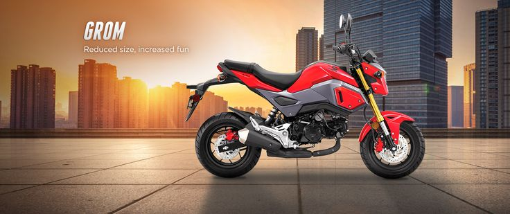 Easy to ride, easy to maintain, easy to love with the control & feel of a much bigger bike - Honda's GROM provides reduced size & increased fun.
