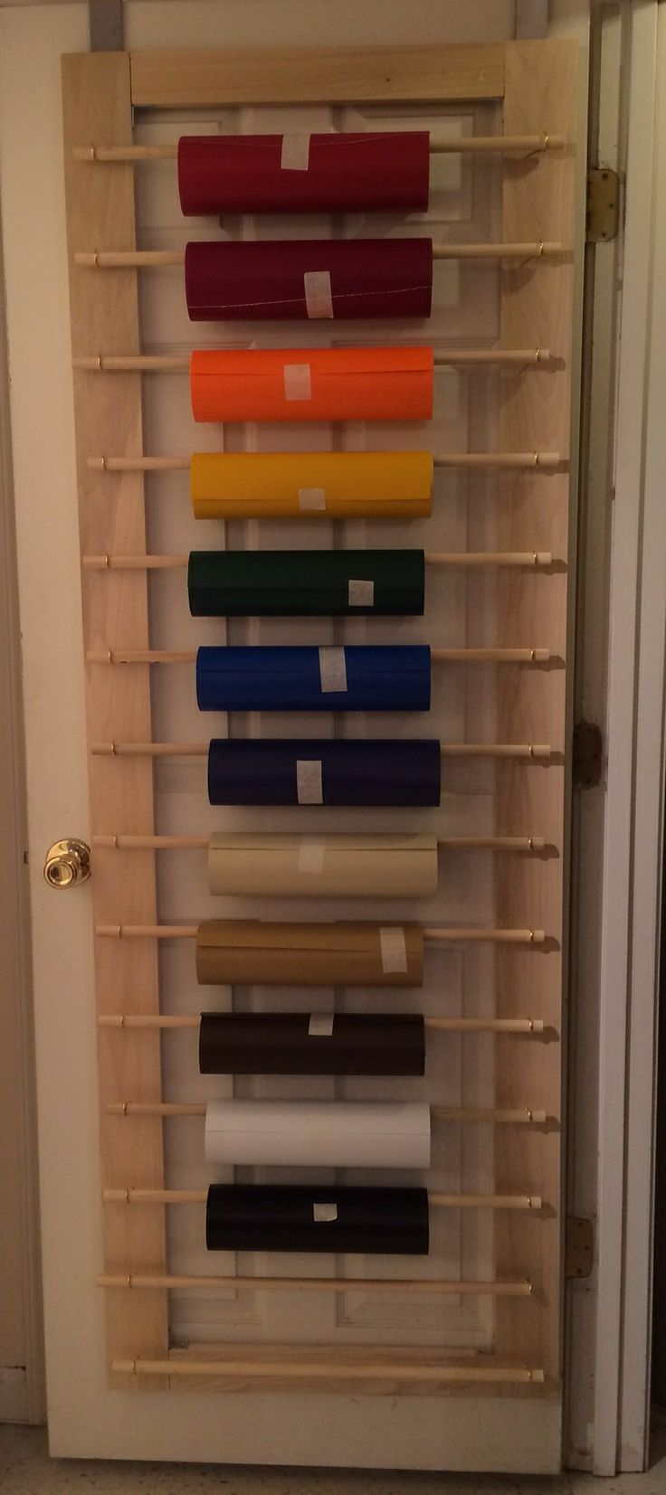 My new vinyl roll storage rack. I made it in about an hour ...