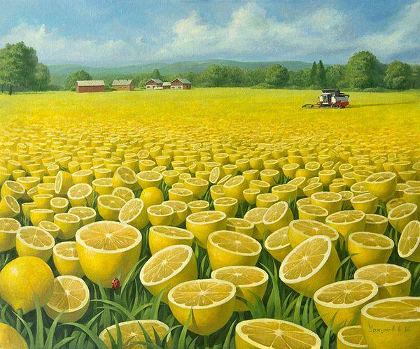 Лимонное поле 2 творчество, Живопись, Искусство, Уржумов, лимон, поле, картина