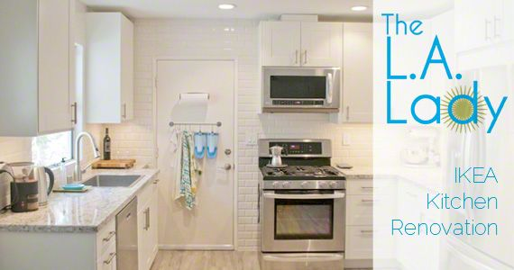 * Making an IKEA kitchen look custom made (from LA Lady Blog)
