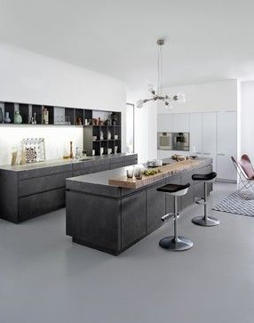 Concrete Cabinets - Industrial Chic - Rustic - Kitchen - other metro - by Leicht Kitchens Boston -- Made in Germany