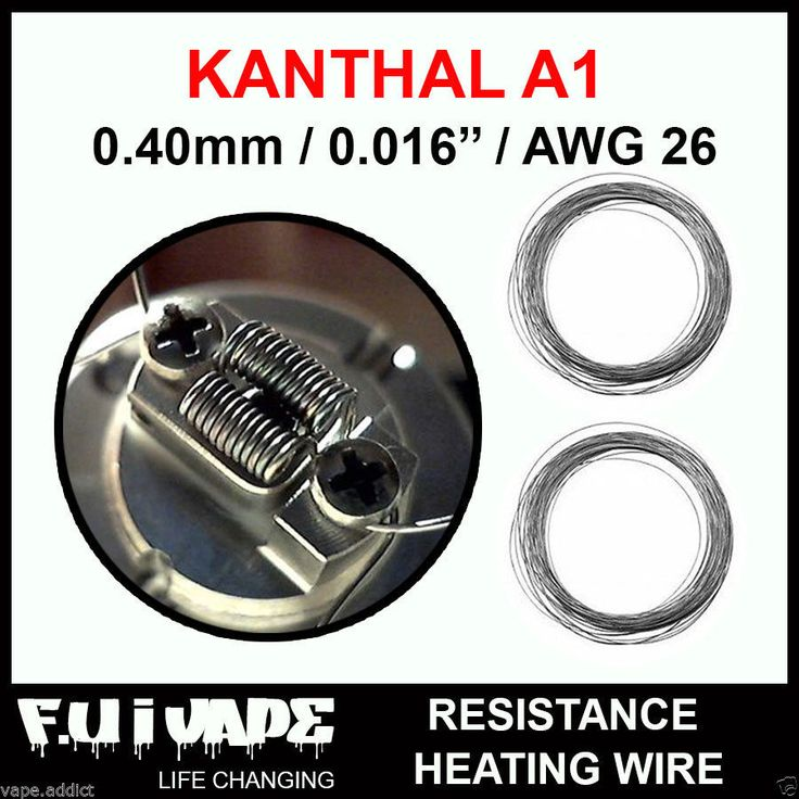 KANTHAL A1 0.40mm / 0.016'' / AWG 26 , Resistance Heating Wire SPOOL 10m/32.8ft