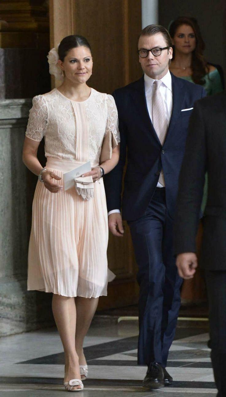 Crown Princess Victoria i książę Daniel na publikację zapowiedzi małżeństwa księżniczki Madeleine i między Chris ONeill