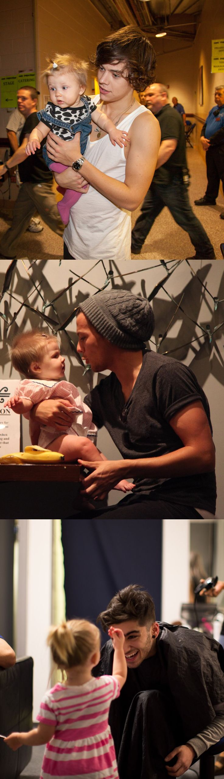 Aweee! The boys with babys