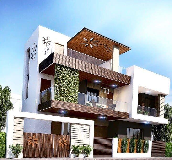 Villa Design Outdoor House Decor In 2020 Duplex House Design Bungalow House Design Modern Exterior House Designs
