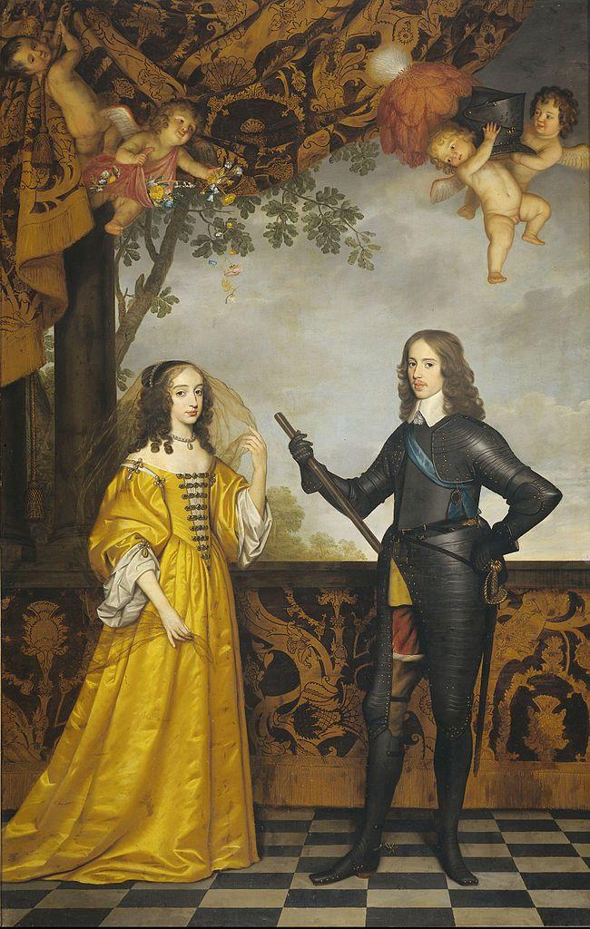 William II Prince of Orange and his wife Mary Stuart, 1647, Gerard van Honthorst