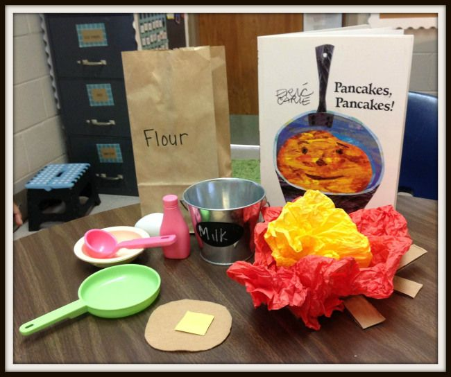"Speech and Language Activities to go with ""Pancakes, Pancakes"" by Eric Carle. [growstretchspeak]"
