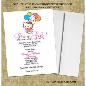 18 best hello kitty birthday invitations images on pinterest hello hello kitty baby shower invitations 2 stopboris Image collections