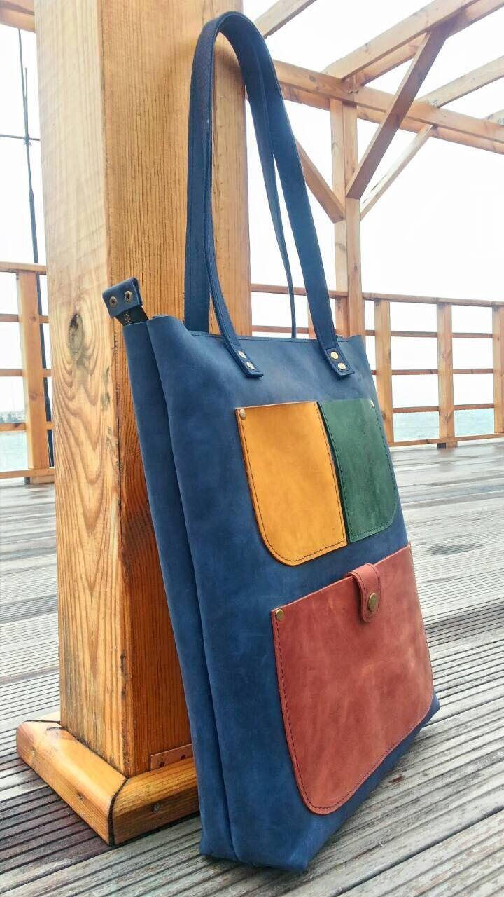 0571fcb8b29d Кожаная сумка шоппер 38*35 см. Одно отделение. Без подклада. В отличие от  классических шопперов, полностью закрывается н… | Кожаная сумка ручной  работы ...
