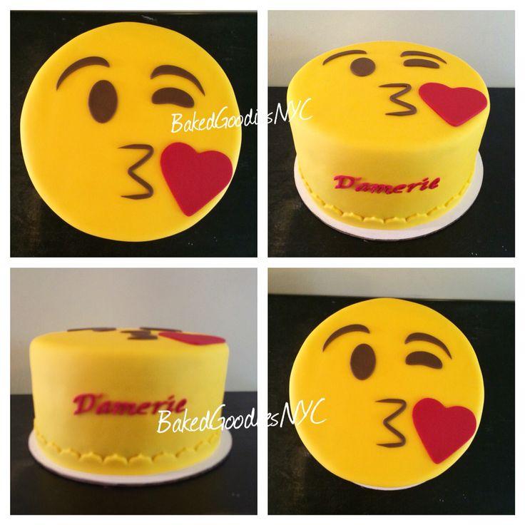 KISS EMOJI CAKE