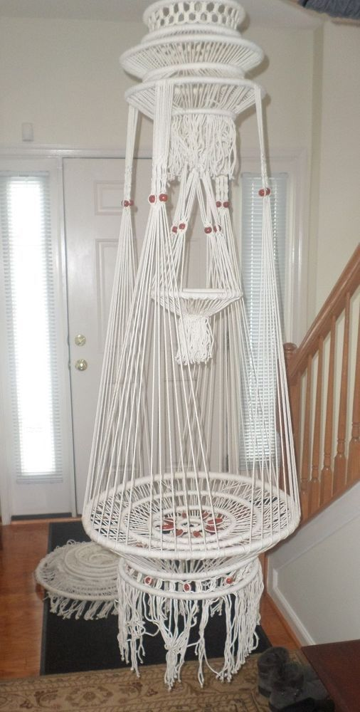 Macrame Cord Hanging Table Plant Hanger #Unbranded