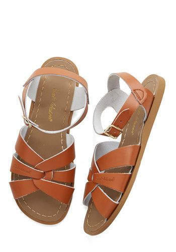 Outer Bank on It Sandal in Tan by: Salt Water Sandals