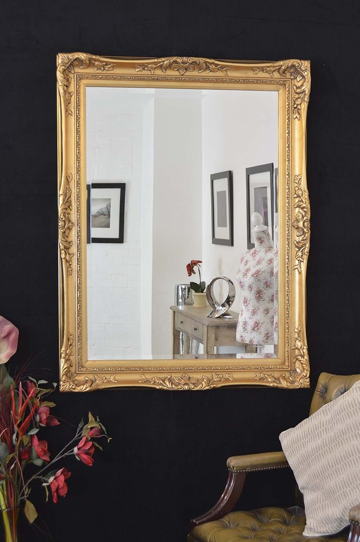 59 best mirrors images on pinterest wall mirrors 19th century large gold ornate antique decorative big wall mirror 4ft x 3ft2 122cm x 96cm amipublicfo Gallery