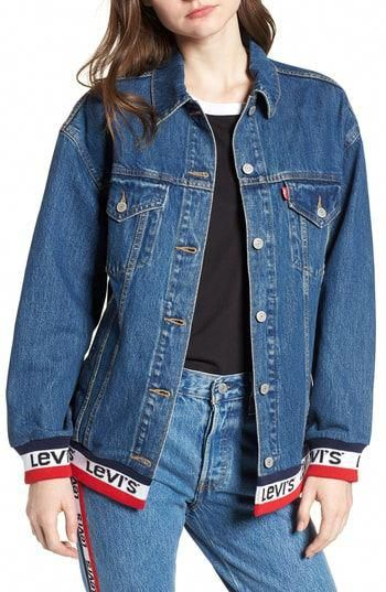Chic Levi s Sport Tape Baggy Trucker Denim Jacket women s coats Jacket  online.   98  findanew from top store  KidsShoesWithArchSupport afd78068fb