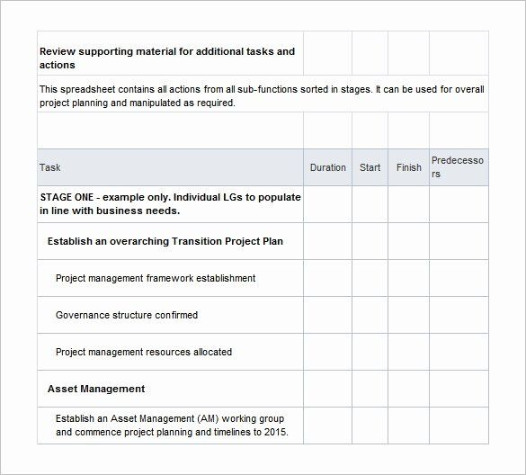 Project Transition Plan Template Excel Unique 12 Transition Plan