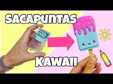 HAZ UN SACAPUNTAS KAWAII(paleta de helado kawaii)con caja de Tic Tac