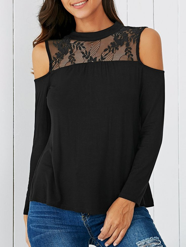 Hollow Out Lace Tee
