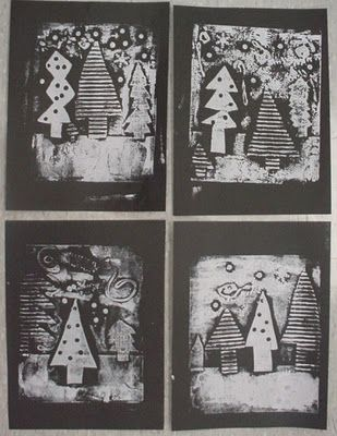Collagraph--cardboard, foam, etc. Students could create a book plot collage: setting, characters, climax, and resolution