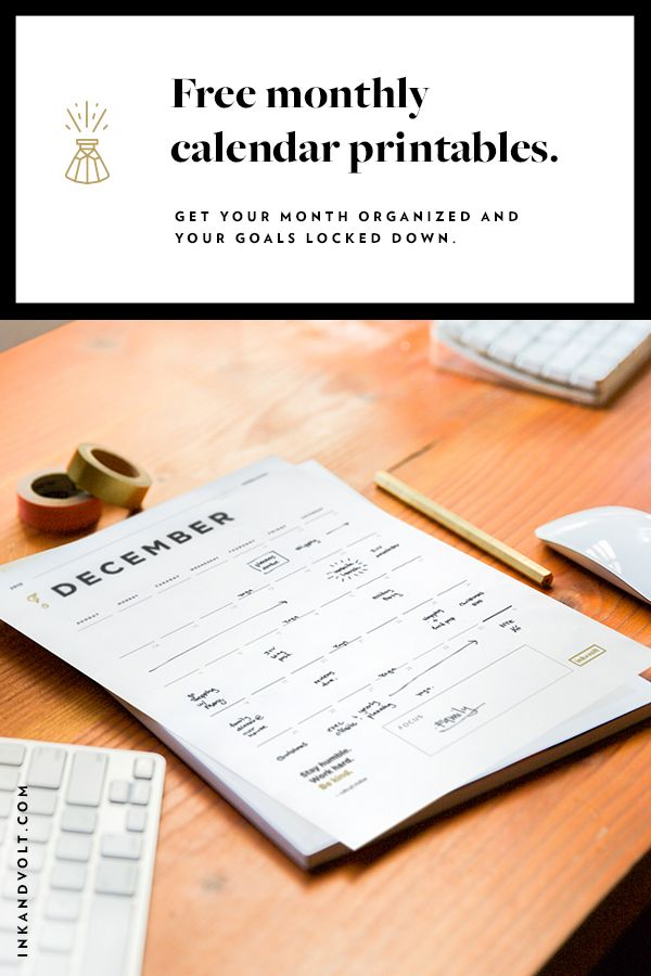Make the most of your year with these 2017 monthly calendar printables and goal planning worksheet https://inkandvolt.com/2016/09/2017-calendar-printables-goal-planner/