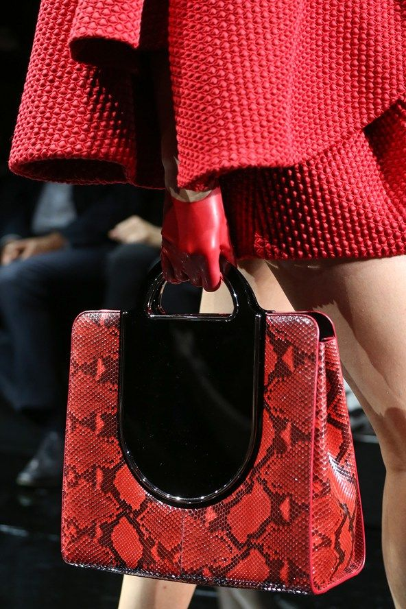 SnakeSkin bag, Armani Privé Couture, Fall 2014