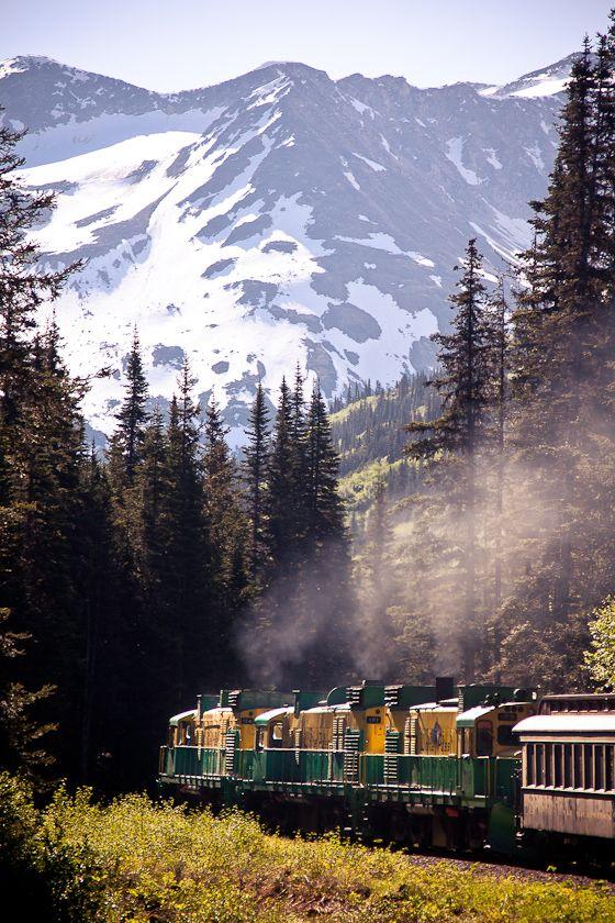 white pass train - Skagway, Alaska