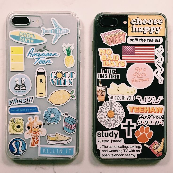 iphone cases with stickers!