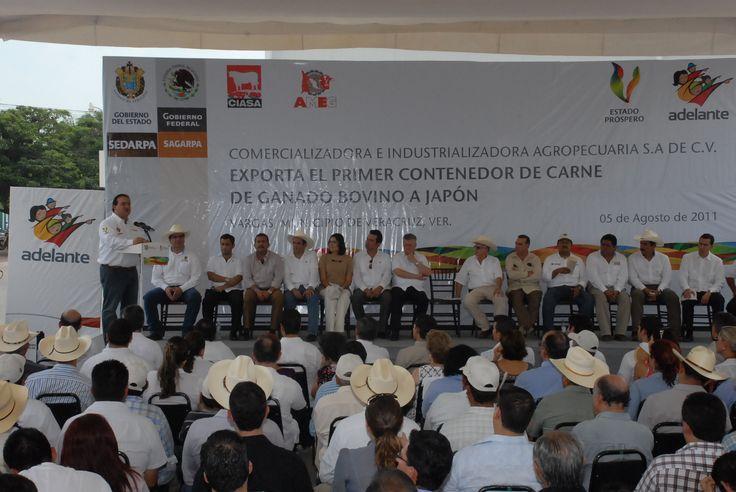Asegura el gobernador Javier Duarte de Ochoa que este es el primer paso, pues pronto se exportará a Rusia y otros países.