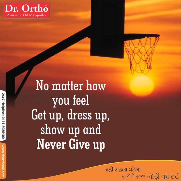 Dr. Ortho Monday #MotivationalThought  #Thoughtoftheday - #drorthoayurvedicoil  www.drorthooil.com | 24X7 Helpline: 0171-3055100