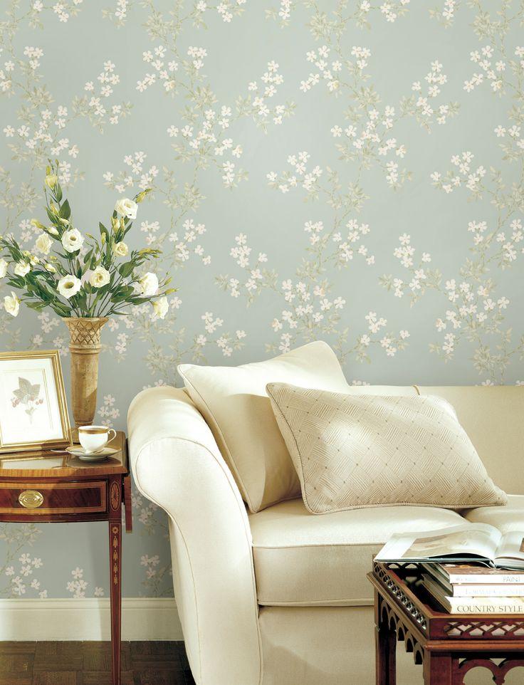 Lekker blomstertapet fra kolleksjonen Claremont #wallpaper #storeys