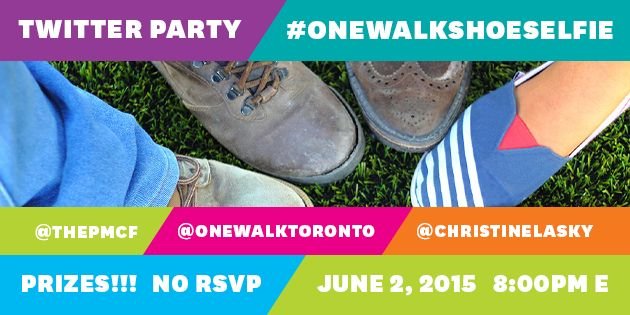 Share your shoes and show your support by joining the #OneWalkShoeSelfie Twitter Party June 2, 2015