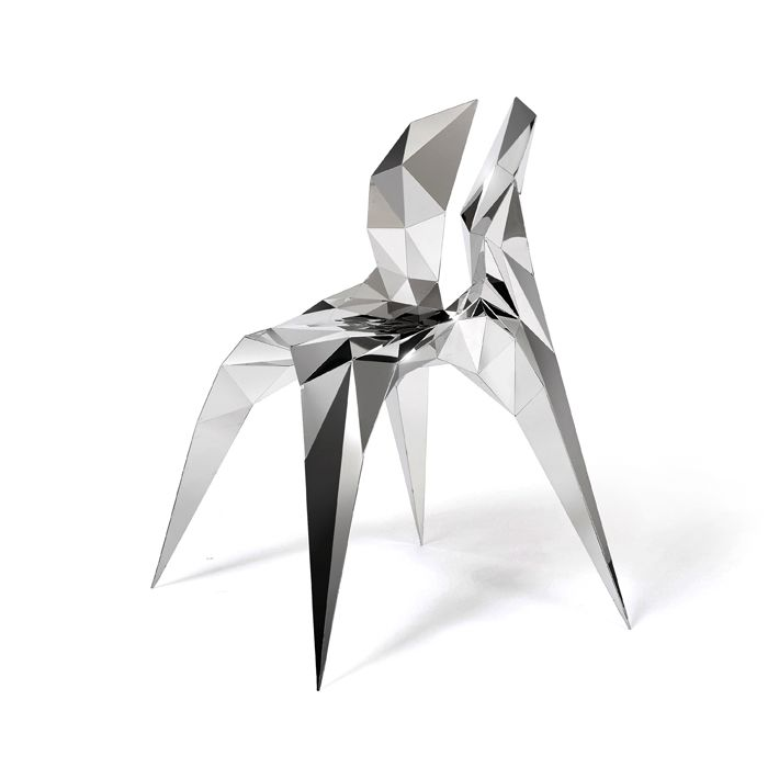 OBJECT # SQN3‐A   Stainless Steel Chair   Zhang Zhoujie