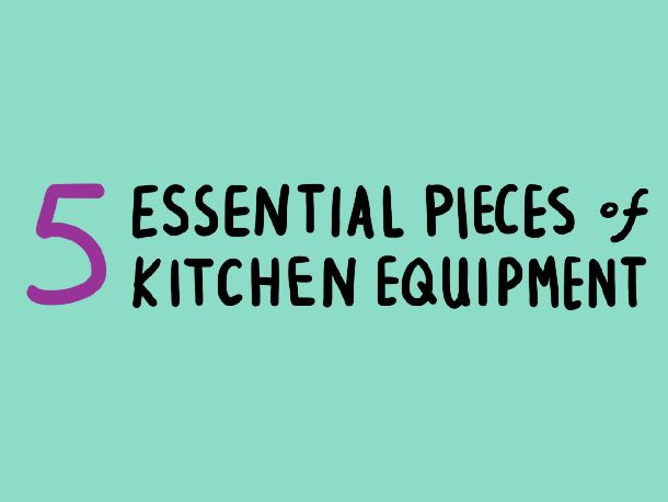 Video: Alton Brown's 5 Essential Pieces of Kitchen Equipment from Serious Eats. I love Alton Brown.
