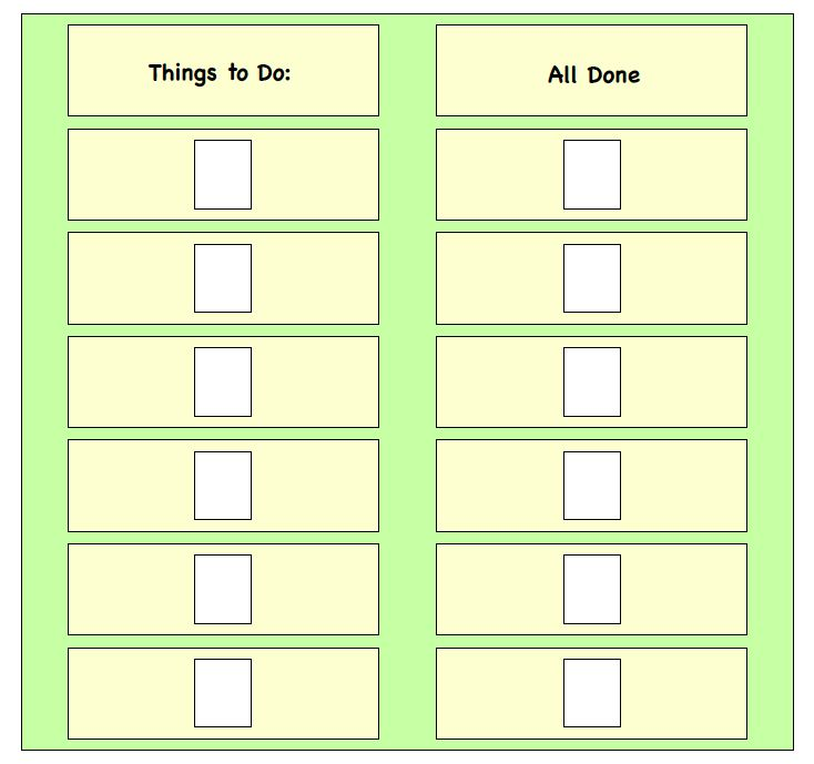 Visual Supports - Things to Do Board - Task Completion Board