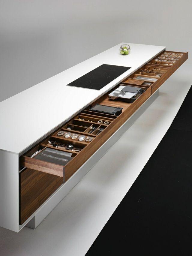 35 best Küche images on Pinterest Modern kitchens, Kitchen and - moderne kuche massivem eichenholz