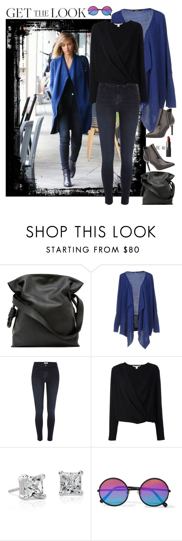 """""""Get the Look: Winter Style"""" by hubunch ❤ liked on Polyvore featuring Loewe, Pianurastudio, River Island, Diane Von Furstenberg, Blue Nile, Sunday Somewhere, GetTheLook, jessicaalba and wintersweater"""