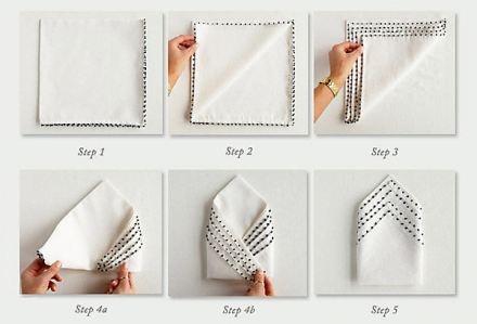 Manera sencilla de doblar las servilletas