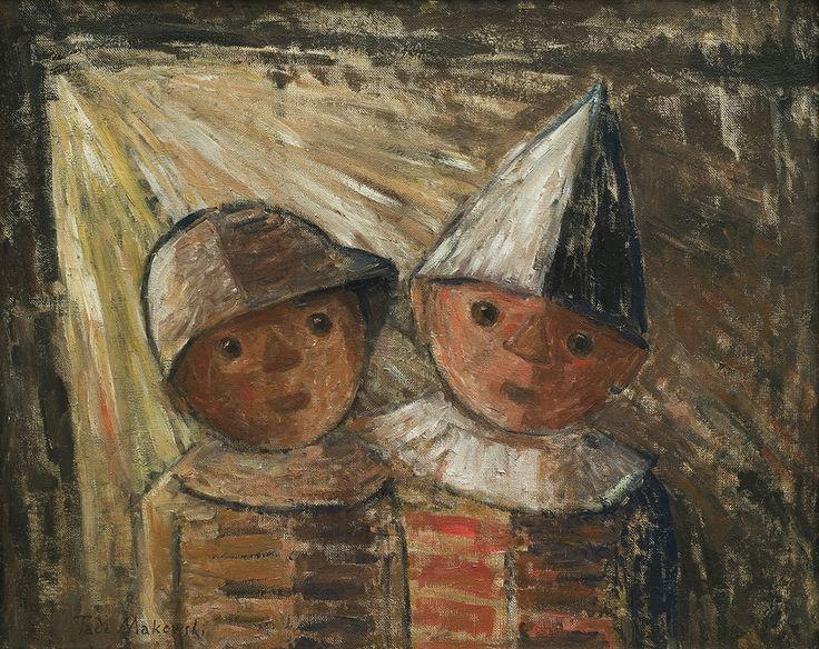 Tadeusz Makowski | Two children, 1930 | oil, canvas | 40.3 x 50.5 cm