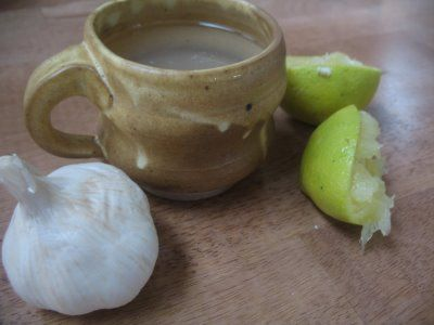 Garlic, Honey, and Lemon Tea (drink when you are sick to help your immune system)