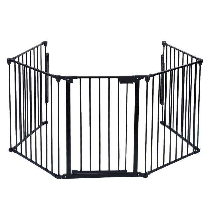"""Fireplace Fence Baby Safety Fence Hearth Gate BBQ Metal Fire Gate Pet Dog Cat US Seller. ✿ Safety For Use Around Fireplaces, Grills, Wood Burning Stoves, Etc. Heavy Duty Tubular Steel Construction. All Joints Easily Rotate And Lock For Secure Attachment. ✿ A Freestanding Play Area With Optional Extensions. Light Weight, Sturdy And Easy To Assemble. ✿ Material : Steel+Plastic. ✿ Overall Gate Width: 120"""" ✿ Overall Gate Height 30"""". ✿ Individual Panels: 25"""" X30"""" ✿ Door Dimensions:17"""" X 29""""."""
