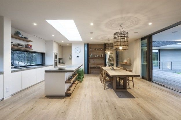 Fingal Residence by JAM Architects featuring mafi Oak Country Brushed White Oil floorboards