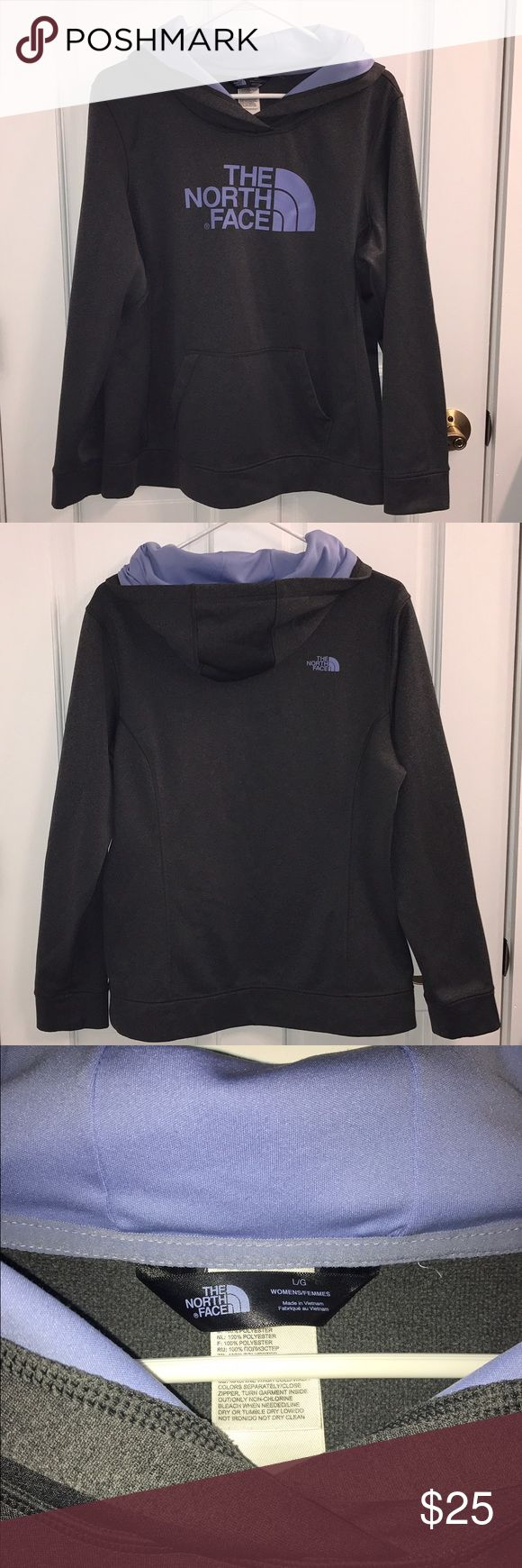 The North Face Women's Hoodie. Beautiful Grey and Light Purple Women's TNF Hoodie. The North Face Tops Sweatshirts & Hoodies