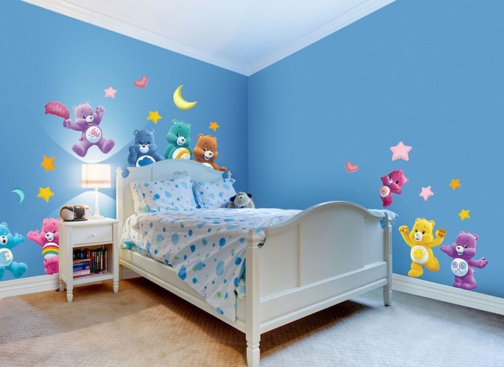 1470 best kp care bears images on pinterest hearts for Care bears wall mural