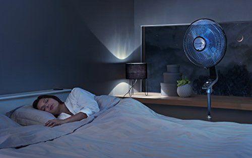 Rowenta VU5670F0 Turbo Silence 16 Ventilateur stand Noir/Gris Foncé: Puissant et silencieux, ce ventilateur s'intégrera parfaitement dans…