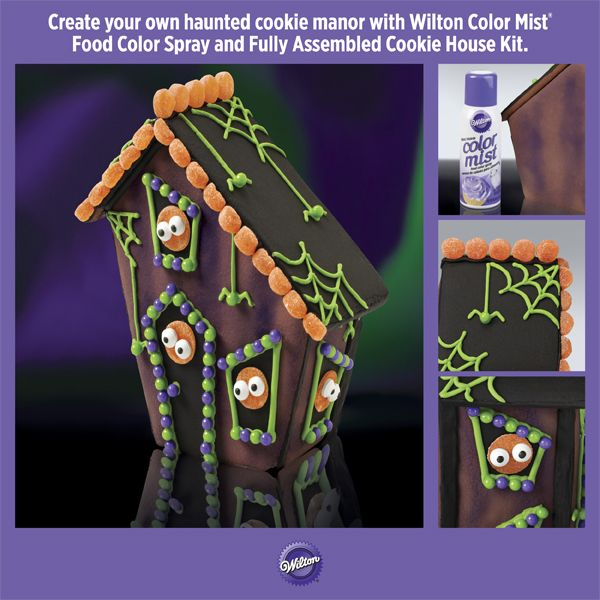 Make a Haunted Halloween House with @Wilton Cake DecoratingWilton Cake, House Cookies